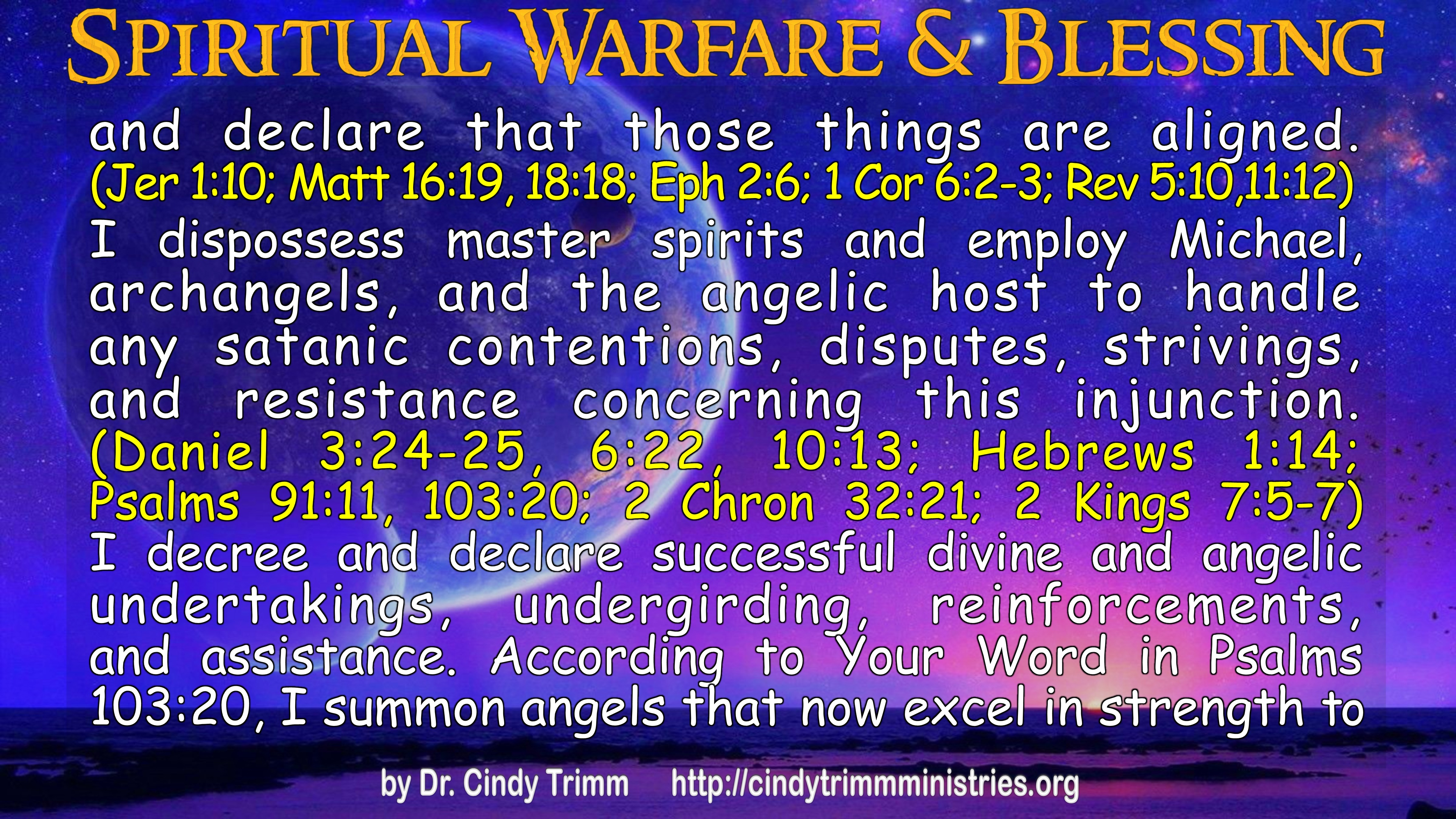 Pictures/Text: Spiritual Warfare & Blessing, Dr  Cindy Trimm